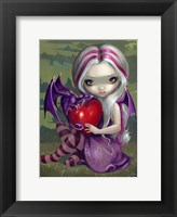 Framed Valentine Dragon