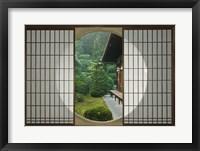 Framed Tea House Window, Sesshuji Temple, Kyoto, Japan