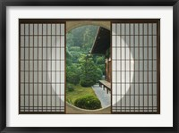 Framed Tea House Window, Sesshuji Temple, Kyoto, Japan