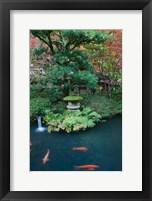 Framed Japanese Garden, Tokyo, Japan