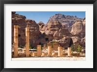 Framed Great Temple, Petra, UNESCO Heritage Site, Jordan