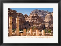 Framed Great Temple, Petra, UNESCO Heritage Site, Jordan