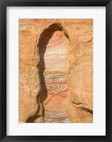 Framed Rock texture of cave wall, Petra, Jordan