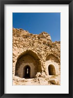 Framed crusader fort of Kerak Castle, Kerak, Jordan