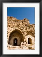 Framed crusader fort of Kerak Castle, Kerak, Jordan