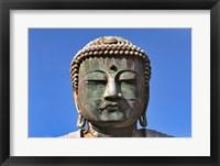 Framed Japan, Kanagawa, Great Buddha, the bronze Daibutsu