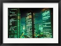 Framed Nightscape, Tokyo, Japan