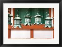 Framed Kasuga Lanterns, Kasuga Shrine, Nara, Japan