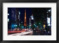 Framed Tokyo Tower, Roppongi, Tokyo, Japan