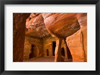 Framed Jordan, Petra, Exterior Siq, Tombs