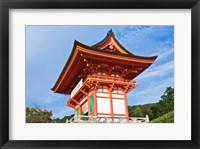 Framed Kiyomizudera Temple Gate, Japan