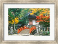 Framed Ryuzenji Temple, Nara, Japan