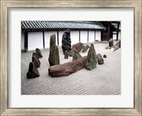 Framed Stone Zen Garden, Kyoto, Japan