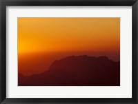 Framed Sunset on Petra Valley, Jordan