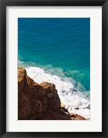 Framed Deposit of salt and gypsum by the cliff in Dead Sea, Jordan