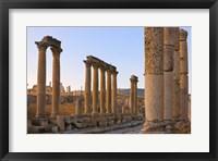 Framed Column street in ancient Jerash ruins, Amman, Jordan