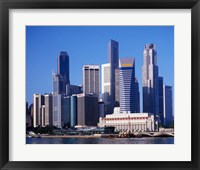 Framed Singapore Skyline
