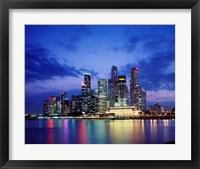 Framed Singapore Skyline at Night