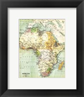 Framed Map of Africa 1885