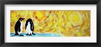 Framed Starry Night Penguin I