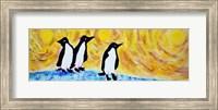 Framed Starry Night Penguin II
