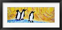 Framed Starry Night Penguin II