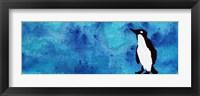 Framed Blue Penguin II