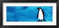 Framed Blue Penguin IV