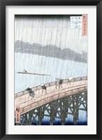Framed Sudden Shower over Shin-Ohashi Bridge