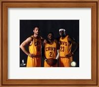 Framed Kevin Love, Kyrie Irving, & LeBron James 2014