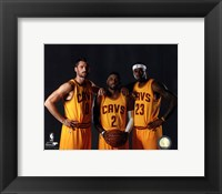 Framed Kevin Love, Kyrie Irving, & LeBron James 2014