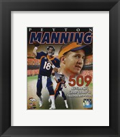 Framed Peyton Manning NFL All-Time leader in career Touchdown Passes 509