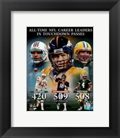 Framed Peyton Manning NFL All-Time leader in career Touchdown Passes Composite