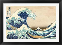 Framed Great Wave off Kanagawa