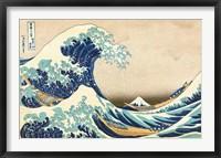 Framed Great Wave off Kanagawa