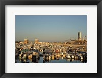 Framed Kuwait, Kuwait City, yacht boats in pleasure port