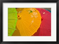 Framed Birghtly Colored Parasols, Bulguksa Temple, Gyeongju, South Korea