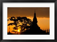 Framed Asia, Laos, Vientiane That Luang Temple, sunrise