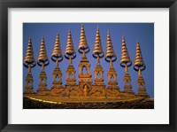 Framed Temple Decoration, Vientiane, Laos