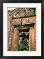Framed Wat Phu Khmer Palace Doorway, Champasak, Laos