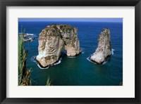 Framed Asia, Lebanon, Beirut, Coastal Pigeon Rocks
