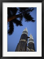 Framed Malaysia, Petronas Twin Towers, Modern buildings