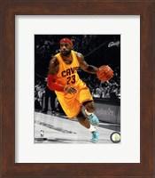 Framed LeBron James 2014-15 Spotlight Action