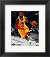 Framed LeBron James 2014-15 Spotlight Action
