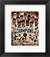 Framed San Francisco Giants 2014  World Series Champions Composite