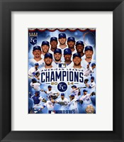 Framed Kansas City Royals 2014 American League Champions Composite