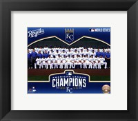 Framed Kansas City Royals 2014 American League Champions Team Sit Down