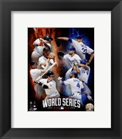 Framed 2014 MLB World Series Match Up Composite San Francisco Giants vs. Kansas City Royals