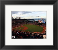 Framed AT&T Park Game 3 of the 2014 World Series
