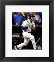 Framed Mike Moustakas Game 6 of the 2014 World Series Action